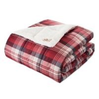 Woolrich® Tasha Cozy Spun Berber Printed Throw in Red