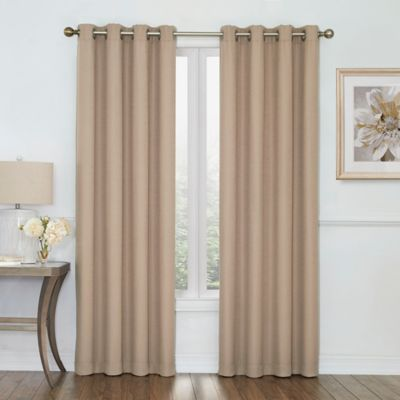 Curtains Ideas brown linen curtains : Buy Lined Linen Curtains from Bed Bath & Beyond