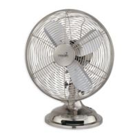 Minka-Aire® Retro 10-Inch Oscillating Table Fan in Brushed Nickel
