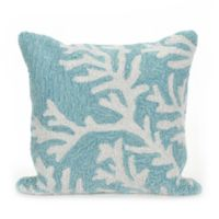 Liora Manne Coral Indoor/Outdoor Throw Pillow in Aqua