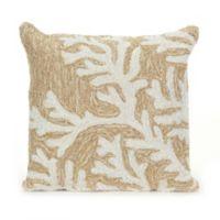 Liora Manne Coral Indoor/Outdoor Throw Pillow in Neutral