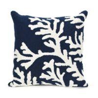 Liora Manne Coral Indoor/Outdoor Throw Pillow in Navy