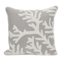 Liora Manne Coral Indoor/Outdoor Throw Pillow in Silver