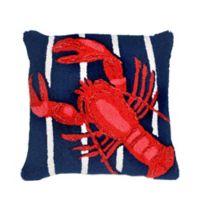 Liora Manne Lobster Indoor/Outdoor Throw Pillow in Navy