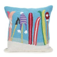 Gone Skiing 18-Inch Square Indoor/Outdoor Throw Pillow in Blue