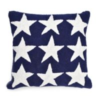 Liora Manne Frontporch Stars Square Indoor/Outdoor Throw Pillow in Blue