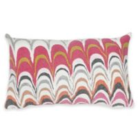 Liora Manne Visions III Floating Ink Opera 12-Inch x 20-Inch Lumbar Pillow in Pink