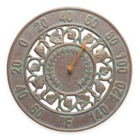 Ivy Silhouette Thermometer in Copper Verdigris
