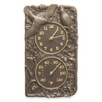 Whitehall Products Cardinal Combo Outdoor Clock and Thermometer in French Bronze