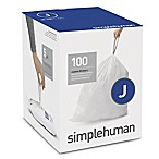 simplehuman® Code J 100-Pack 38-40-Liter Custom Fit Liners in White