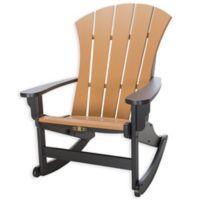 Pawleys Island® All-Weather Durawood® Sunrise Adirondack Rocker in Black/Cedar