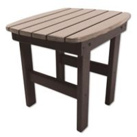 Pawleys Island® All-Weather Durawood® Side Table in Chocolate/Weatherwood