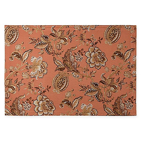 Waterford 174 Linens Williamsburg Placemat In Copper Bed