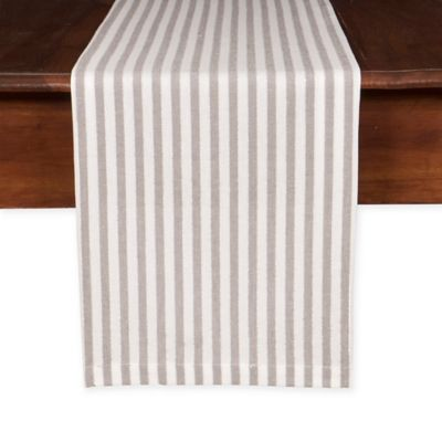 Beau Shimmer 90 Inch Table Runner In Silver