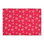 Snowfall Placemats in Red (Set of 4)