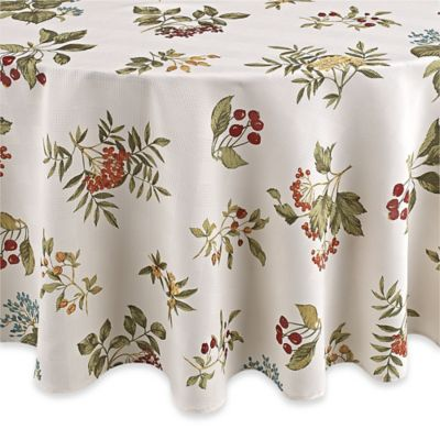 Barrett 70 Inch Microfiber Round Tablecloth