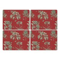 Pimpernel Etchings and Roses Placemat in Red (Set of 4)