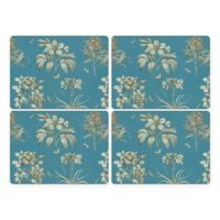 Pimpernel Etchings and Roses Placemat in Blue (Set of 4)