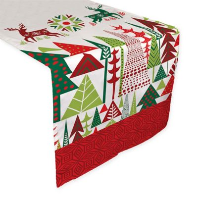 Laural Home Geometric Christmas 72 Inch Table Runner