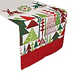 Laural Home Geometric Christmas 72-Inch Table Runner