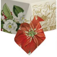 Laural Home Poinsettia 60-Inch x 84-Inch Oblong Tablecloth