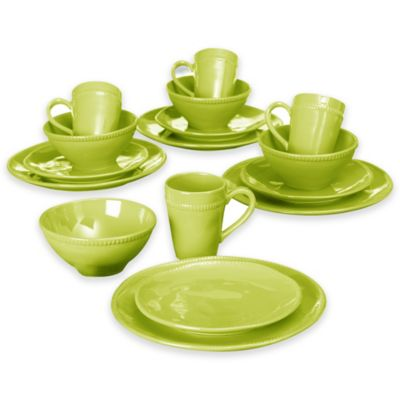 Euro Ceramica Al Garve 16-Piece Dinnerware Set in Green  sc 1 st  Bed Bath u0026 Beyond & Buy Green Dinnerware Sets from Bed Bath u0026 Beyond