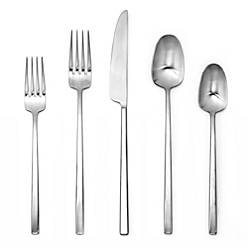 product image for Artisanal Kitchen Supply® Edge 20-Piece Flatware Place Setting in Satin