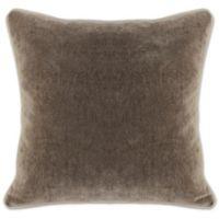 Villa Home Heirloom Velvet Square Throw Pillow in Desert Brown
