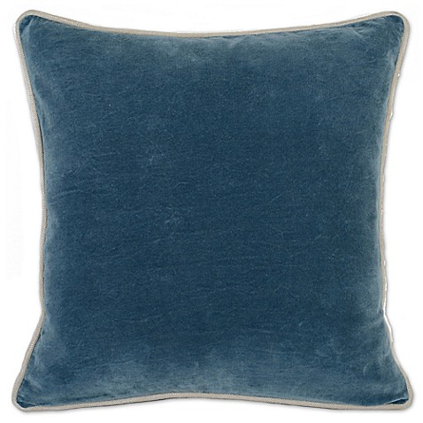 Marine Blue Throw Pillows : Buy Villa Home Heirloom Velvet Square Throw Pillow in Marine Blue from Bed Bath & Beyond