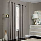 Brielle Solid 84-Inch Grommet Top Window Curtain Panel in Grey