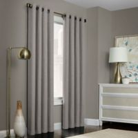 Brielle Solid 108-Inch Grommet Top Window Curtain Panel in Grey