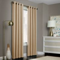 Brielle Solid 84-Inch Grommet Top Window Curtain Panel in Natural