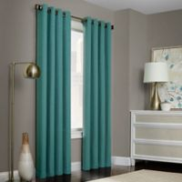 Brielle Solid 95-Inch Grommet Top Window Curtain Panel Blue