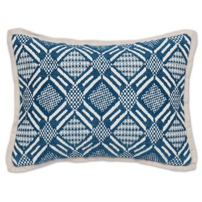 Buy Villa Home Velvet Heirloom Oblong Throw Pillow in Pacific Blue from Bed Bath & Beyond