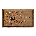 Mohawk Home 30-Inch x 18-Inch Swirly Tree Welcome Mat in Gold