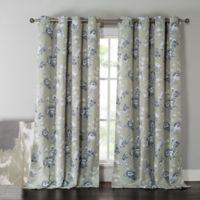 Kensie Nelliebee 84-Inch Thermal Room-Darkening Grommet Top Window Curtain Panel Pair in Grey