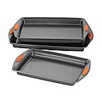 Rachael Ray™ Oven Lovin' Nonstick 3-Piece Cookie Pan Set in Grey/Orange
