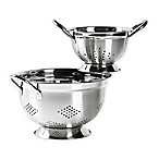 Tabletops Unlimited® 2-Piece Stainless Steel Footed Colander Set