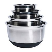 Tabletops Unlimited® 4-Piece Stainless Steel Mixing Bowl Set with Silicone Base