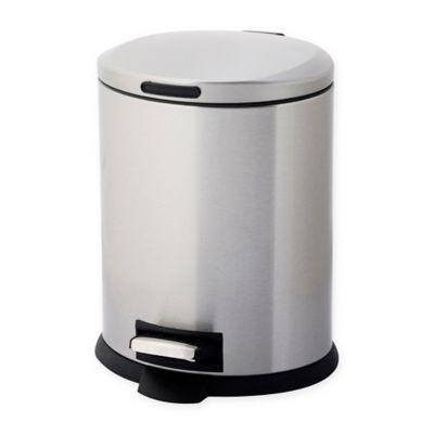 testrite oval 5liter stainless steel waste bin