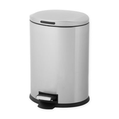 testrite oval 12liter stainless steel waste bin