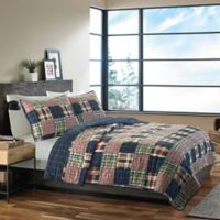 Eddie Bauer® Madrona Plaid King Quilt Set in Dark Blue