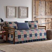Eddie Bauer® Madrona Plaid Daybed Quilt Set in Dark Blue