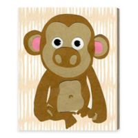 Olivia's Easel 20-Inch x 24-Inch Monkey Canvas Wall Art