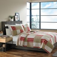 Eddie Bauer® Camano Island Plaid Full/Queen Quilt Set in Red