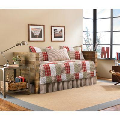 Eddie Bauer® Camano Island Plaid Daybed Quilt Set In Red