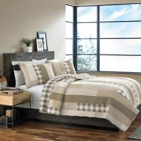 Eddie Bauer® Fairview King Quilt Set in Tan