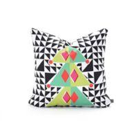 DENY Designs Zoe Woodarz Geo Pop Tree Square Throw Pillow