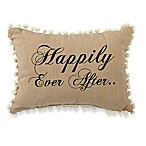 Park B. Smith  Happily Ever After  Oblong Throw Pillow in Black/Linen