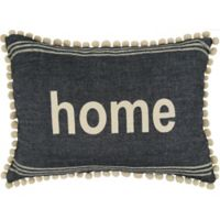 "Park B. Smith ""Home"" Oblong Throw Pillow in Black/Natural"